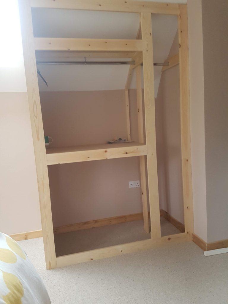 Bespoke Wardrobes in loft space – Feb 2020